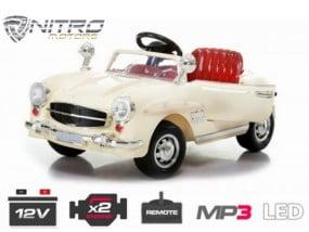 1191130 MCD Retro Mercedes epoca style MINI AUTO ELETTRICA PER BAMBINI