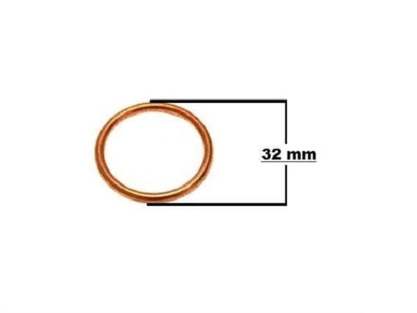 004160 GUARNIZIONE DI SCARICO 32 mm IN RAME per Midi Quad 110.125 cc