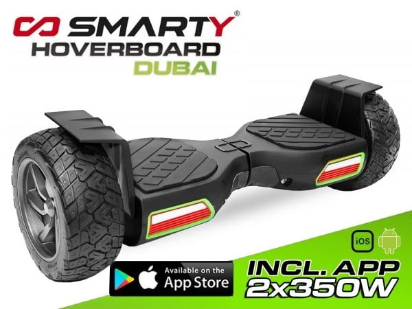 1178021 2x 350W Smarty Hoverboard 8.5 Zoll Dubai mit App Steuerung Offroad
